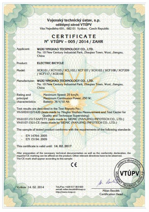 EN15194 certificate