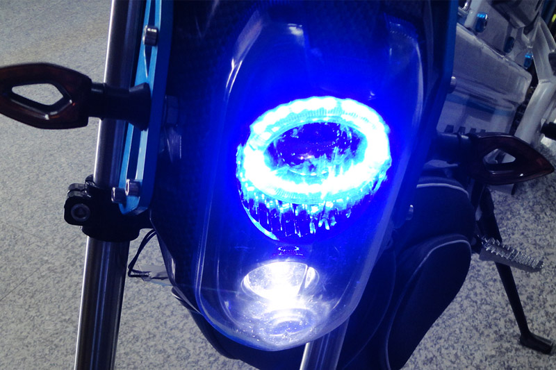 SY-DL_Details_front LED turnning lights & headlight with lens