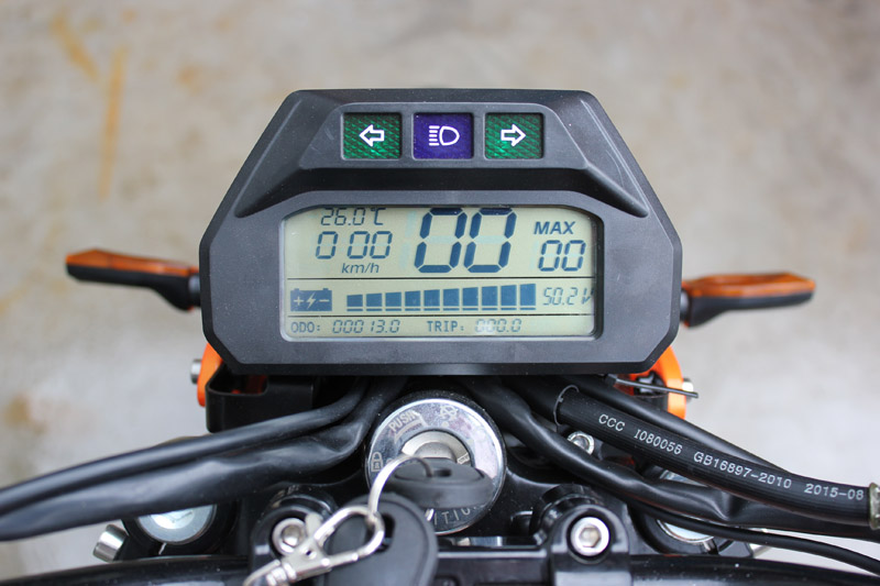 SY-DL_Details_full function LCD speedometer