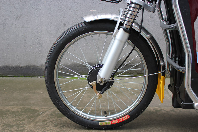 SY-BZ_Details_2.25-17 front tyre&thick front shock absorber&front big drum brake