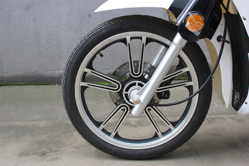 SY-DHY_Details_2.50-17 front tyre&front disc brake&aluminium hub