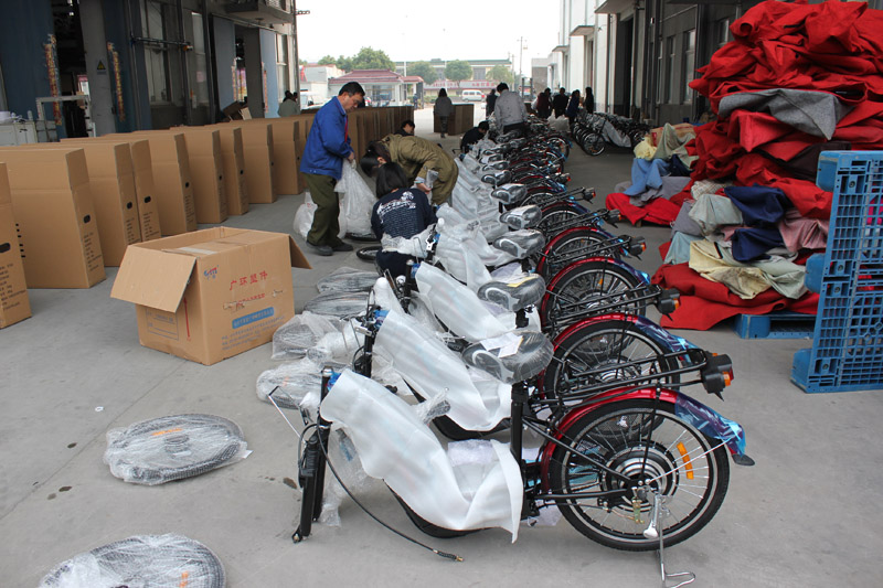 SUNWING_SHENYUN_electric bike_container loading_SKD pack_2