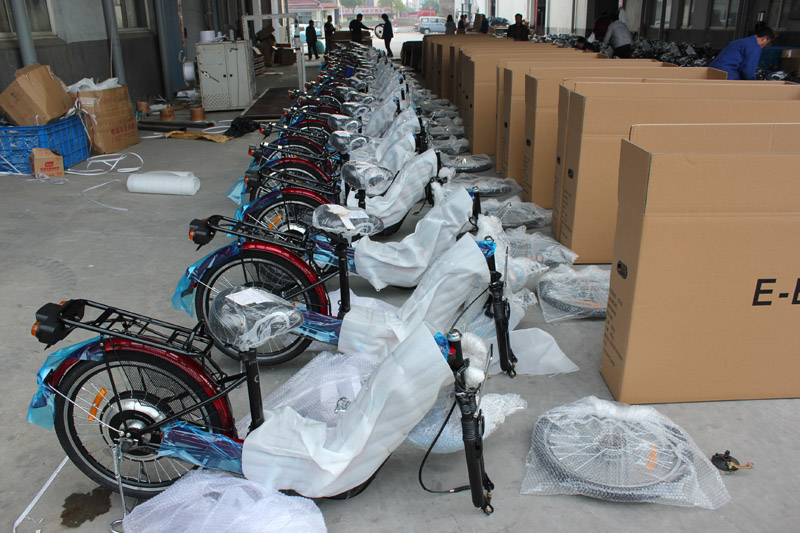 SUNWING_SHENYUN_electric bike_container loading_SKD pack_3